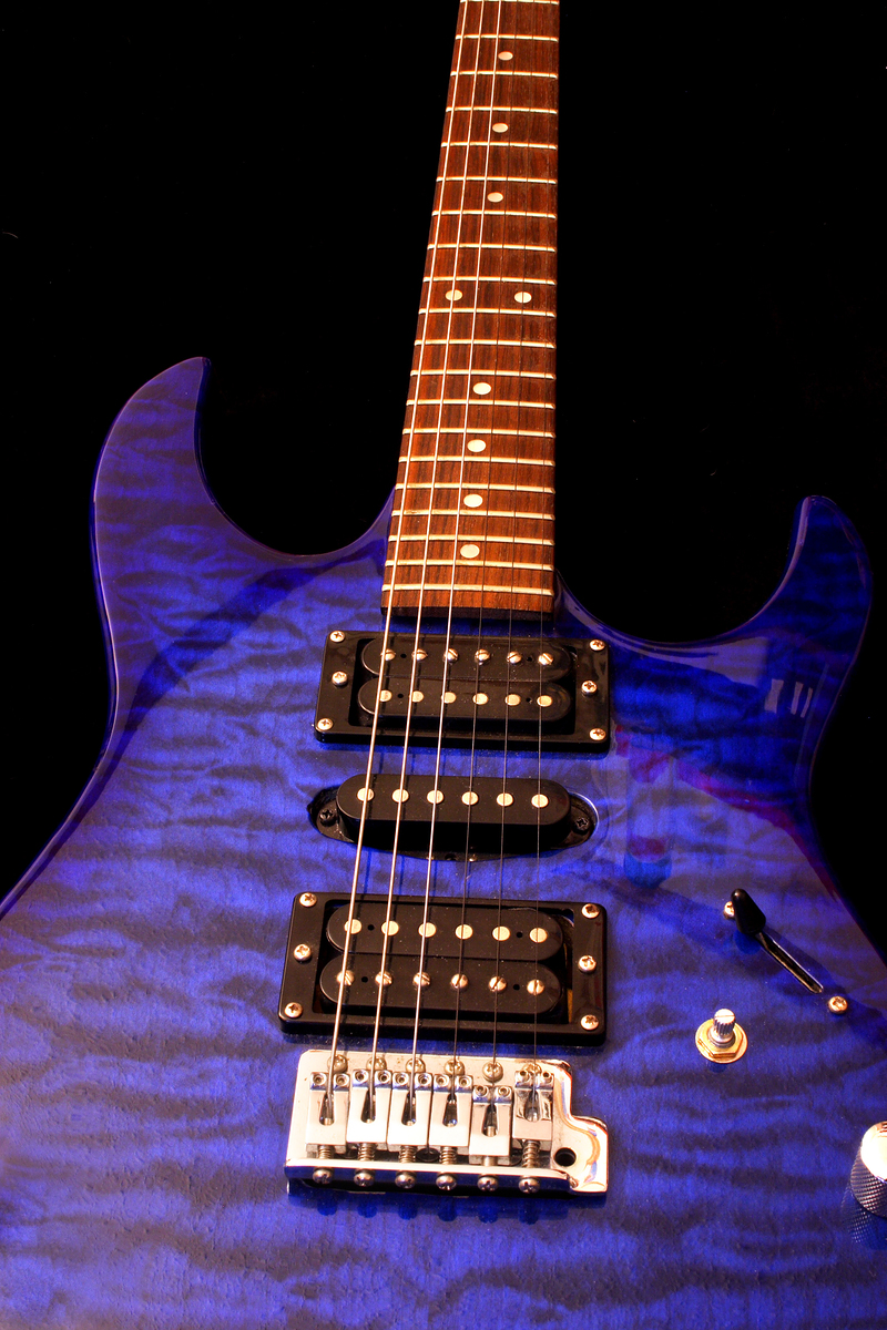 Photo of an electric guitar