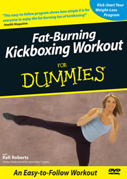 Keli Roberts Fat-Burning Kickboxing for Dummies DVD cover photo